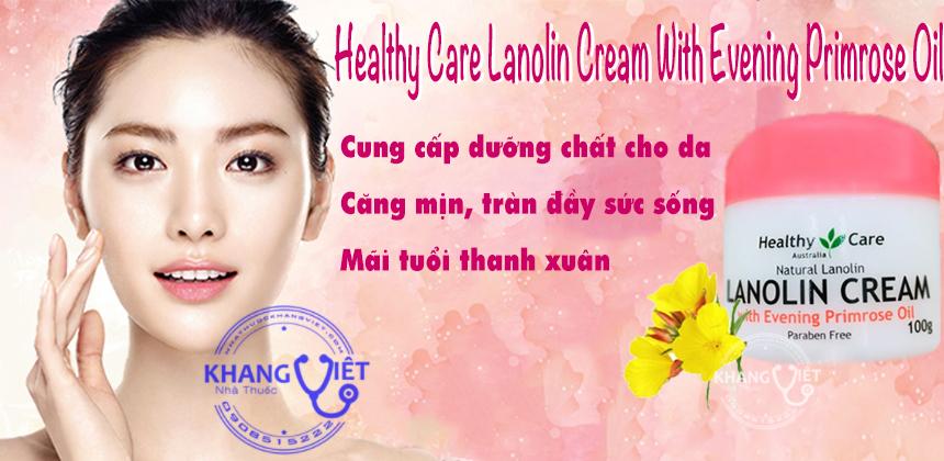 Healthy Care Lanolin Cream With Evening Primrose Oil Kv