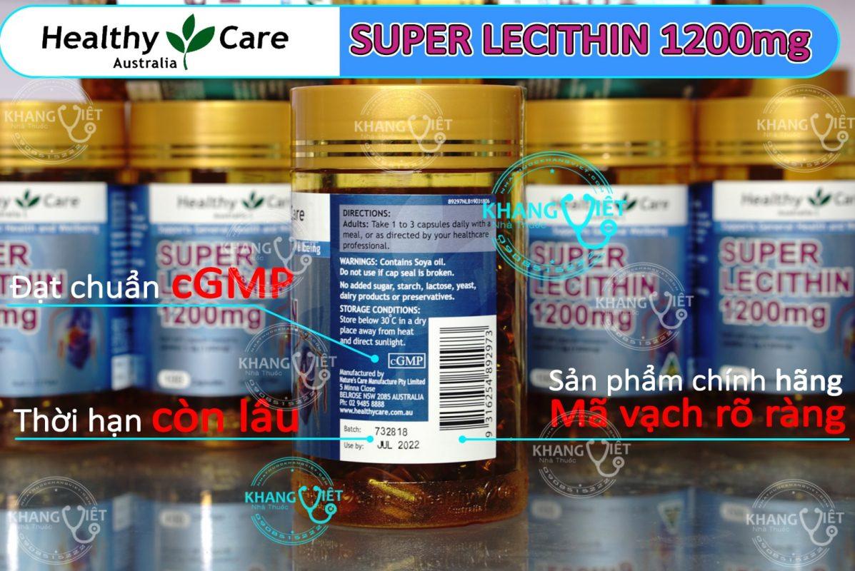 Super Lecithin1200 chính hãng nhà thuốc Khang Việt