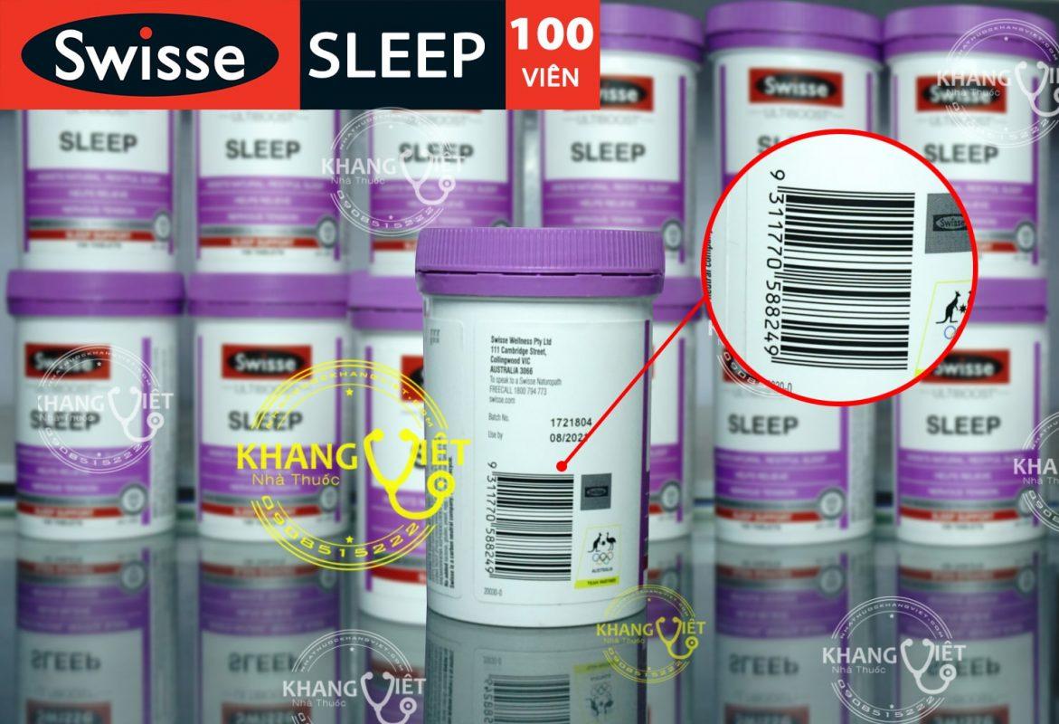 Thuốc ngủ ngon sleep swisse chính hãng