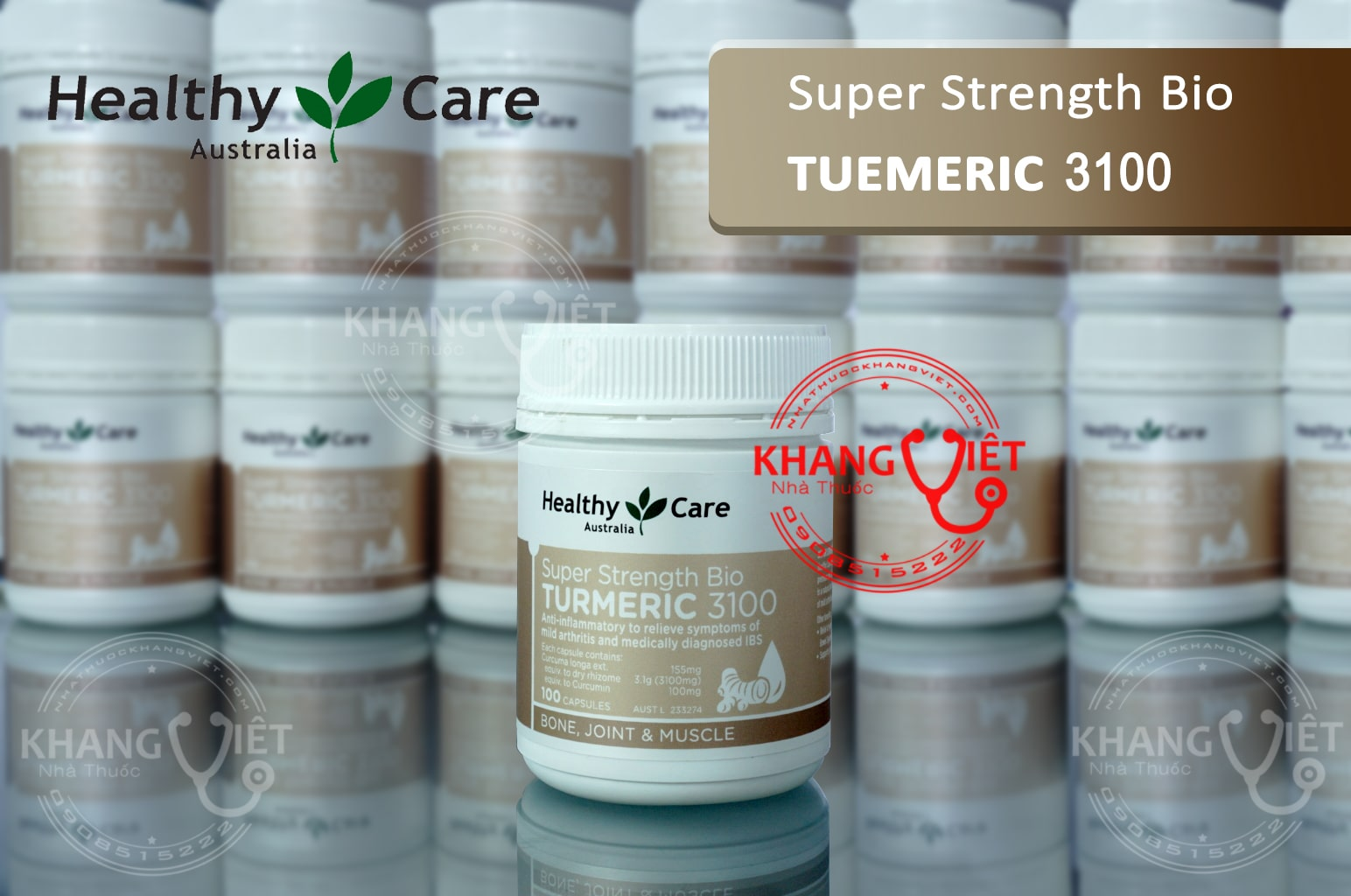 Turmeric 3100 viên uống tinh chất nghệ dạ dày