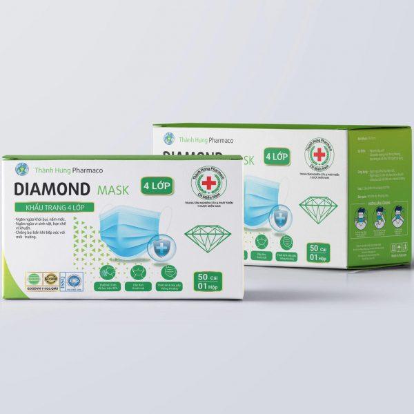 khẩu trang y tế diamond 4 lớp kháng khuẩn