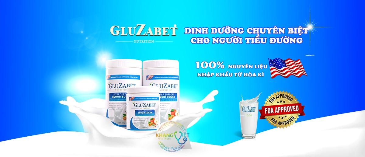 Sữa Tiểu Đường GLUZABET - Dinh Dưỡng Chuyên Biệt Cho Người Tiểu Đường