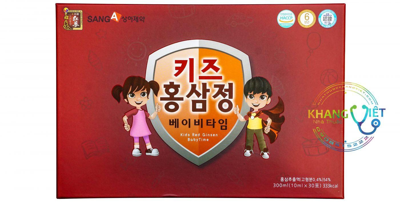 Nước Hồng Sâm Sanga Baby Hàn Quốc Dành Cho Trẻ Em Hộp 30 Gói
