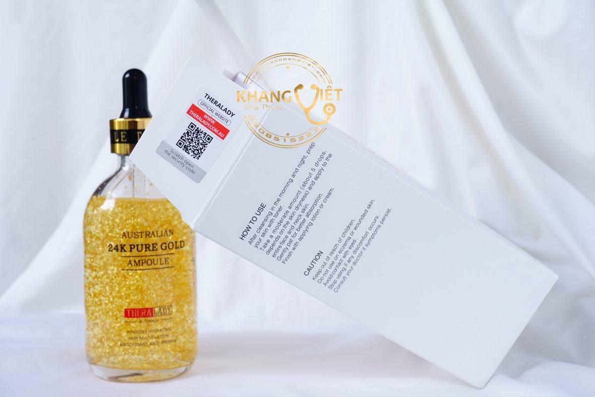 Serum Tinh Chất Vàng 24k Pure Gold Ampoule 100ml của Úc - Ngăn lão hóa dưỡng trắng da