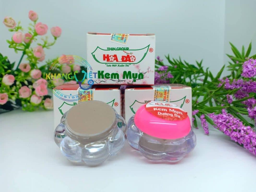 Trị Mụn Với Combo Kem, Sữa Rửa Mặt và Serum Hoa Đào Đông y chính hãng